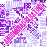 Abdominal Bloating Word Cloud. On a white background Royalty Free Stock Photos