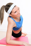 Abdominal exercices Stock Photo
