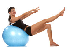 Abdominal exercise Stock Images