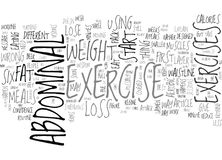 Abdominal Exercise And Weight Loss Word Cloud. ABDOMINAL EXERCISE AND WEIGHT LOSS TEXT WORD CLOUD CONCEPT Royalty Free Illustration
