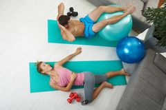 Abdominal exercises Royalty Free Stock Photos