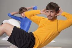 Abdominal exercises Royalty Free Stock Photo
