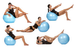 Abdominal exercises Royalty Free Stock Images