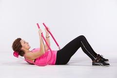 Abdominal exercises Stock Photos