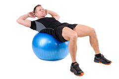 Abdominal Fitball Exercises Stock Photo