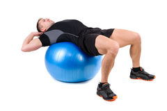 Abdominal Fitball Exercises Royalty Free Stock Image
