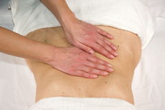 Abdominal massage Royalty Free Stock Photography