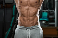 Abdominal Muscle Close Up Shredded To The Bone Stock Image