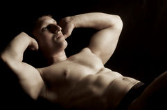 Abdominal muscles Royalty Free Stock Images