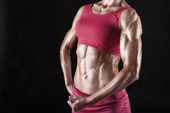 Abdominal muscles Stock Images