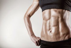 Abdominal muscles Stock Photos