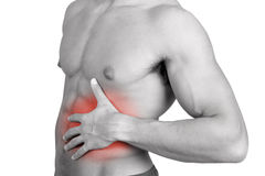 Abdominal pain Stock Images