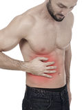 Abdominal pain Stock Photography