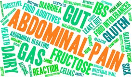 Abdominal Pain Word Cloud. On a white background Stock Photos