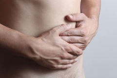 Abdominal pain Royalty Free Stock Photography