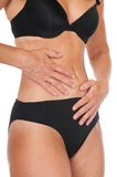 Abdominal pain Royalty Free Stock Image