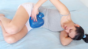 Abdominal pains Stock Photos