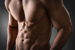 Abdominal and pectoral muscle Stock Photo