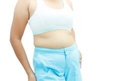 Abdominal surface of fat woman Stock Photos