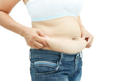 Abdominal surface of fat woman Royalty Free Stock Photos
