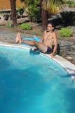 Abdominal swimming pool Royalty Free Stock Image
