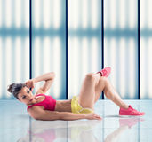 Abdominal woman Royalty Free Stock Images