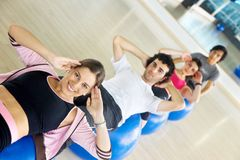 Abdominals at the gym Royalty Free Stock Photo