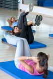 Abdominals gym class Stock Photo
