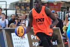 Abdoulaye Loum - basquetebol 3x3 Foto de Stock Royalty Free