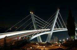 Abdoun-Brücke nachts Lizenzfreie Stockfotos