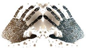 Abdrücke der Hände Stockbilder