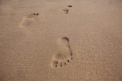 Abdrücke im Sand Lizenzfreies Stockbild