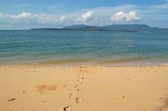 Abdrücke im Sand Stockbilder