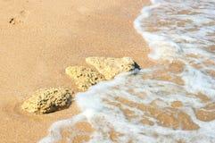 Abdruck auf dem Sand Stockfoto