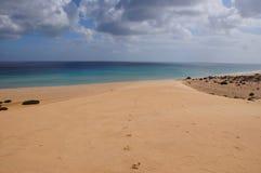Abdruck auf dem Sand Lizenzfreies Stockbild
