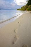 Abdruck auf dem Strand Lizenzfreie Stockbilder