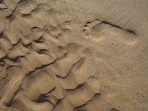 Abdruck auf dem Strand von Lagos lizenzfreie stockfotografie