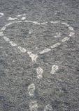 Abdruck auf Erde Stockfoto