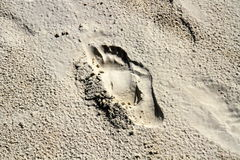 Abdruck auf Sand lizenzfreies stockbild