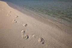 Abdruck im Sand Lizenzfreies Stockbild
