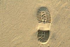 Abdruck im Sand Lizenzfreies Stockfoto