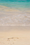 Abdruck im Sand Lizenzfreie Stockbilder