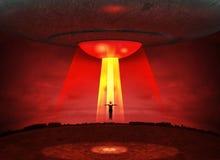 Abducção dos estrangeiros do UFO ilustração stock