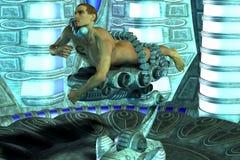 Abducção pelo UFO Fotos de Stock