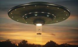 Abducción del extranjero del UFO Fotografía de archivo