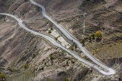 Abducción del paisaje setenta y dos de Tíbet Fotografía de archivo