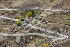 Abducción del paisaje setenta y dos de Tíbet Imagenes de archivo