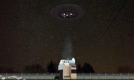 Abducção do UFO Foto de Stock Royalty Free