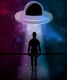 Abduction by aliens Royalty Free Stock Image