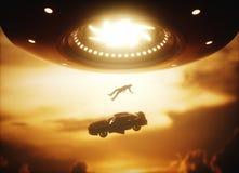 Abduction d'étranger d'UFO Images stock